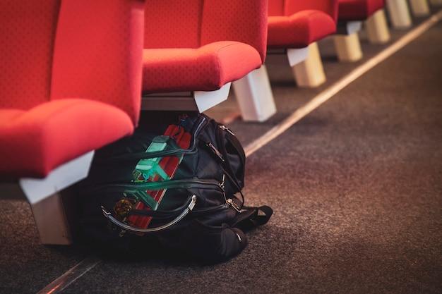 La lucha contra el terrorismo, la bolsa dejada debajo de los asientos en el metro