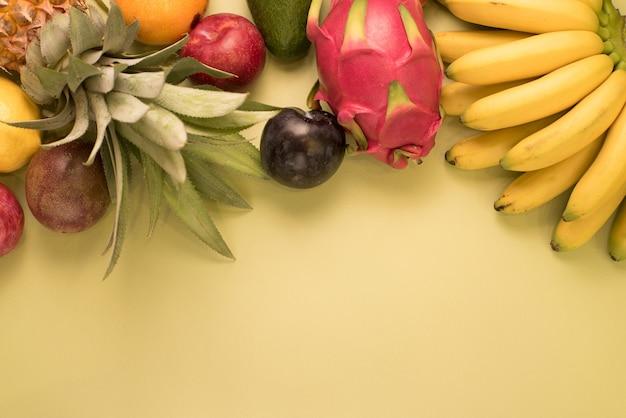 Lugar de frutas para inscripción.