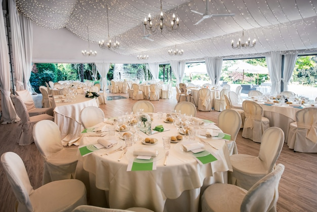 Lugar de recepción de boda en un gran marqués
