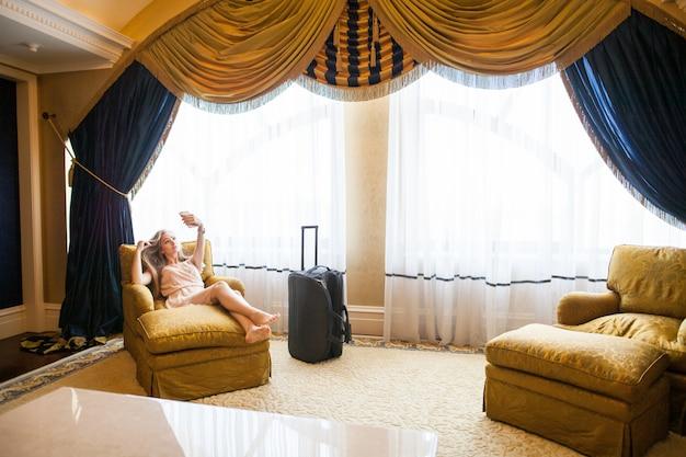 El lujoso hotel de cinco estrellas recibe a los huéspedes en un fin de semana.