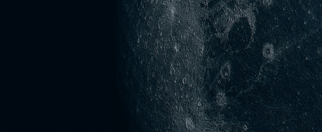 Luna llena hermosa textura de la luna