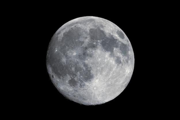 Luna llena vista con telescopio