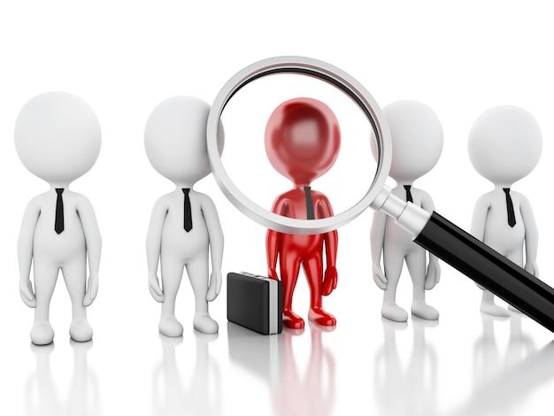Lupa 3d que busca a gente o al empleado.
