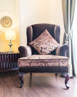 Luz almohada moderna sala de interior