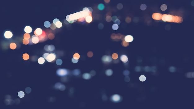 Luz de la ciudad de bokeh