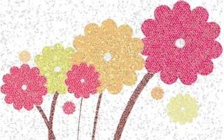 Luz mozaic flor