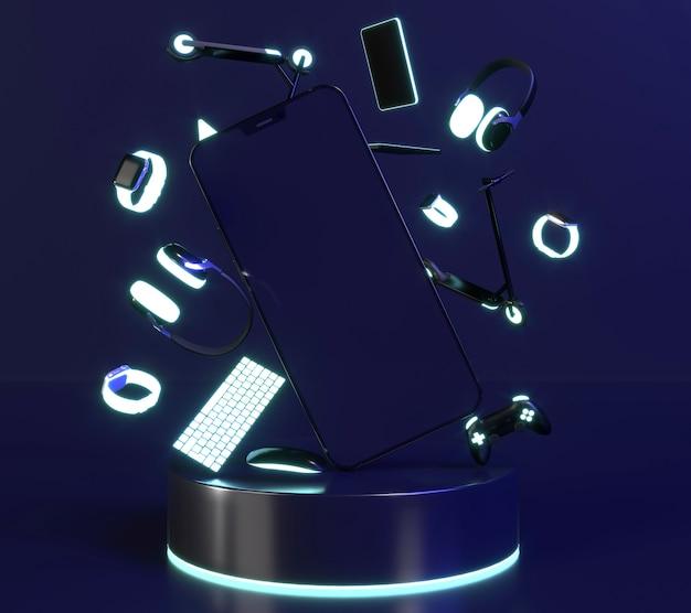 Luz de neón con cyber monday