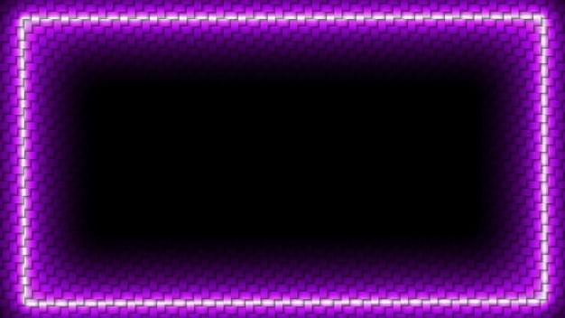 Luz de neón púrpura en el borde resplandor sobre fondo de textura de papel tapiz de ladrillo