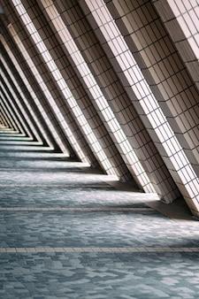 Luz y sombra de la estructura de los edificios.