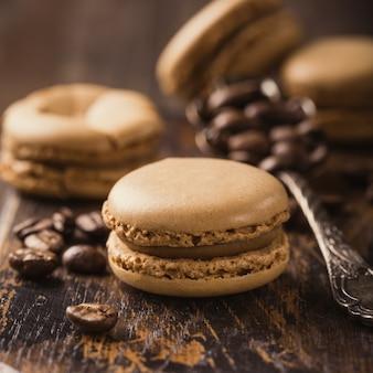 Macarons de café francés