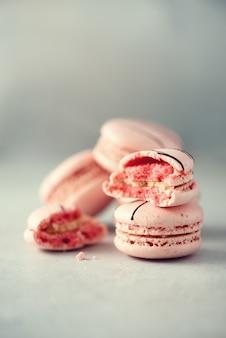 Macarrones franceses rosados.