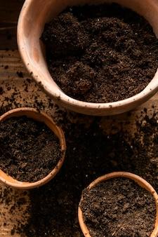 Maceta de jardinería casera
