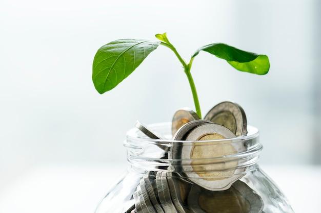 Macro foto de concepto financiero