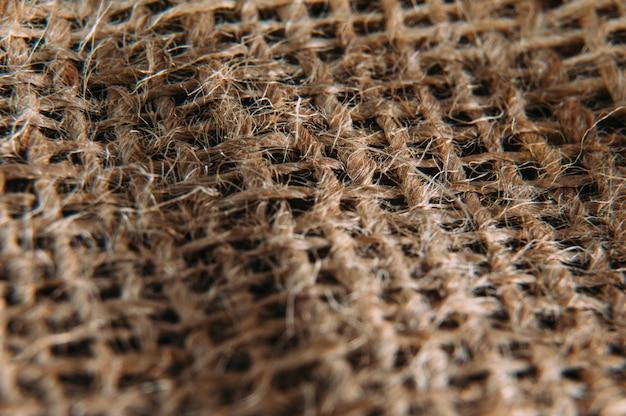 Macro de tela de saco
