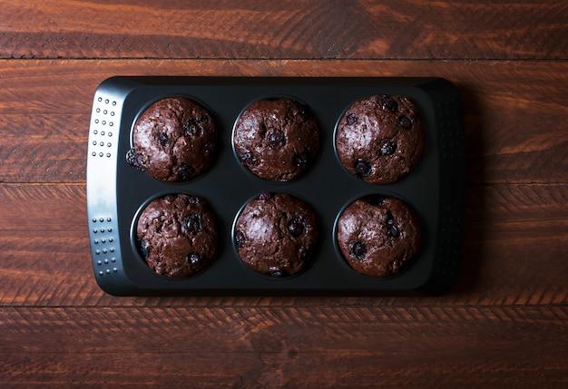 Magdalenas de chocolate - comida dulce americana