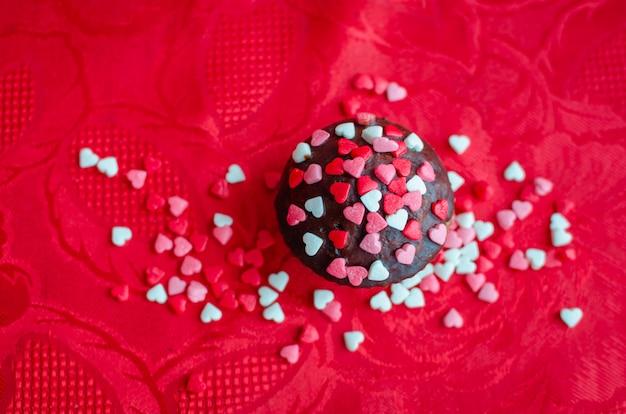 Magdalenas con corazones pequeños