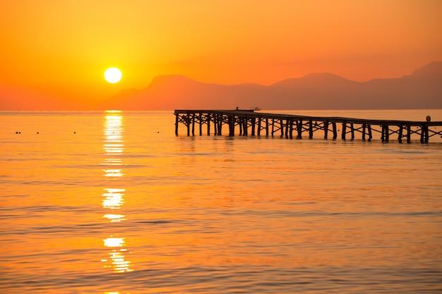 Mallorca playa de muro amanecer alcudia bay mallorca