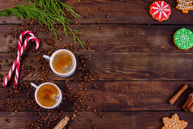 Mañana de navidad con café perfumado