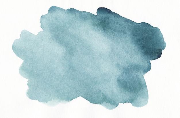 Mancha de acuarela verde mar sobre textura de fondo blanco. fondo turquesa abstracto aquarelle.