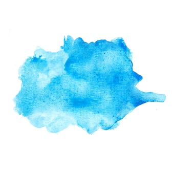 Mancha azul sobre papel blanco