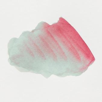 Mancha de color de agua aislada sobre fondo blanco