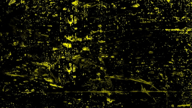 Mancha y salpicaduras amarillas abstractas, fondo colorido del grunge. estilo de ilustración 3d elegante y de lujo para plantilla hipster y acuarela