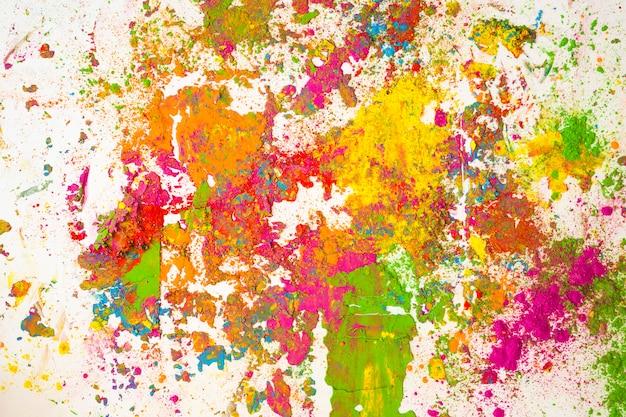 Manchas de diferentes colores brillantes y secos.