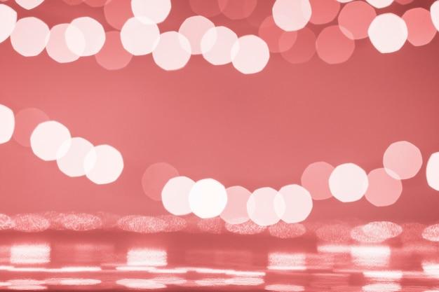 Manchas de luces y superficie reflectante