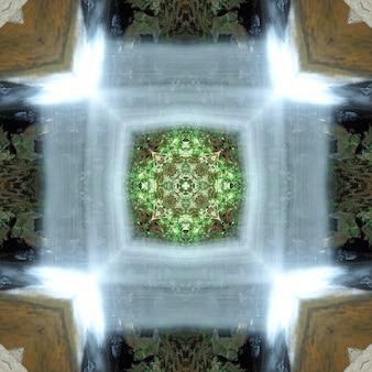 Mandala, caleidoscopio, patrón de diseño de fondo abstracto