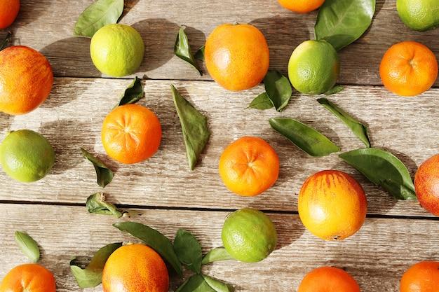 Mandarina y lima