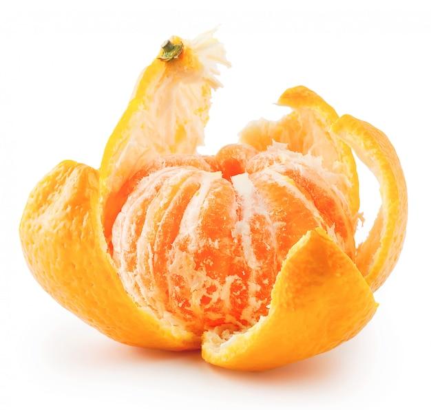 Mandarina madura pelada