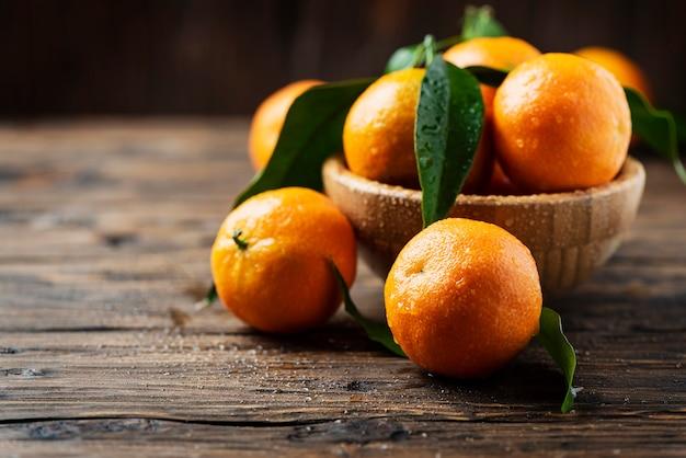 Mandarinas frescas y dulces