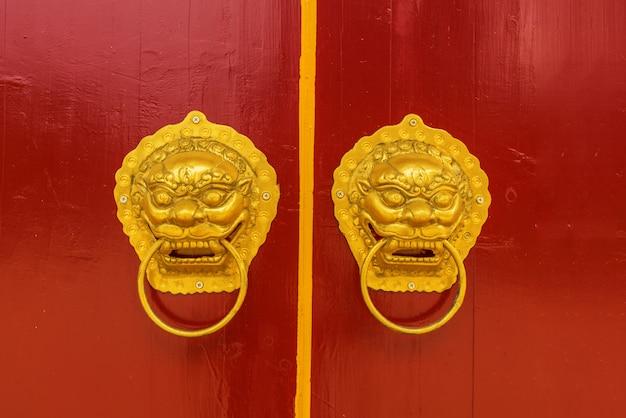 Manija de la puerta china