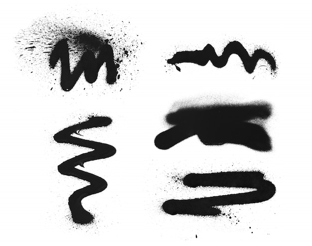 A mano alzada simple pintura en aerosol graffiti textura. elemento de tinta grunge