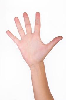 Mano con el dedo difusión