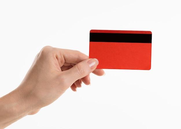 Mano, tenencia, tarjeta de crédito