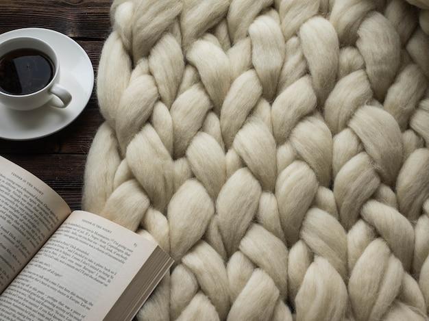 Manta de lana merino closeup