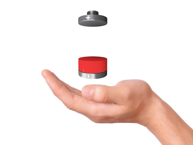 Mantenga presionado el icono de la batería con una carga baja