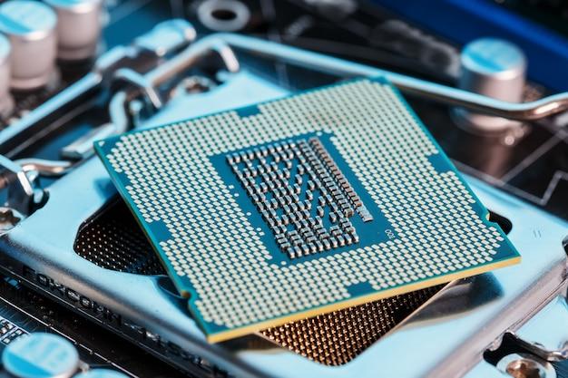 Mantenimiento actualización de hardware de la cpu de la computadora del componente de placa base