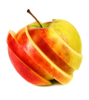 Manzana cortada