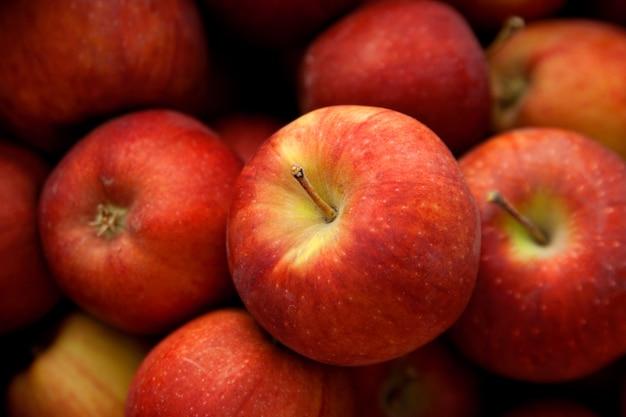 Manzanas rojas de otoño