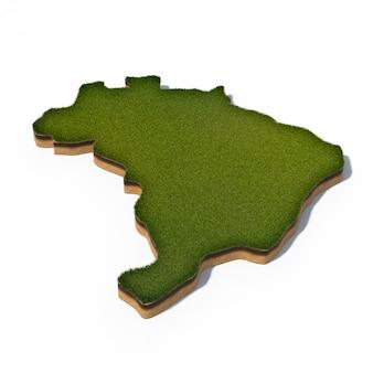 Mapa 3d de brasil