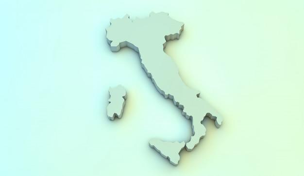 Mapa 3d de italia