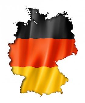 Mapa de la bandera alemana