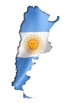 Mapa de la bandera argentina