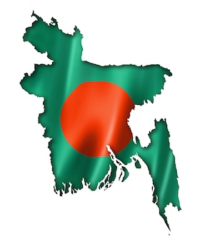 Mapa de la bandera de bangladesh