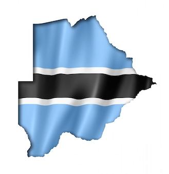 Mapa de la bandera de botsuana