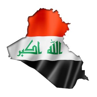 Mapa de la bandera iraquí