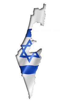 Mapa de la bandera israelí