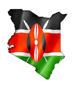 Mapa de la bandera de kenia